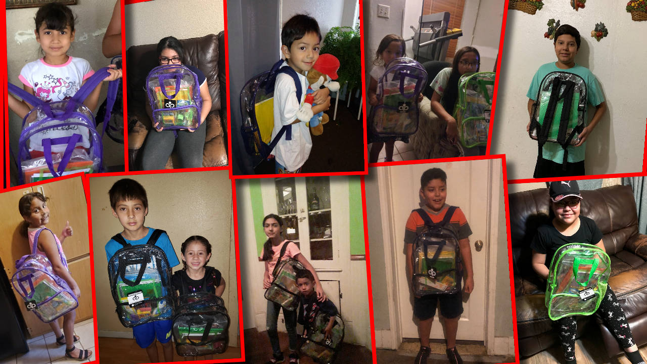 Back to School Supply Drive Backpacks Received