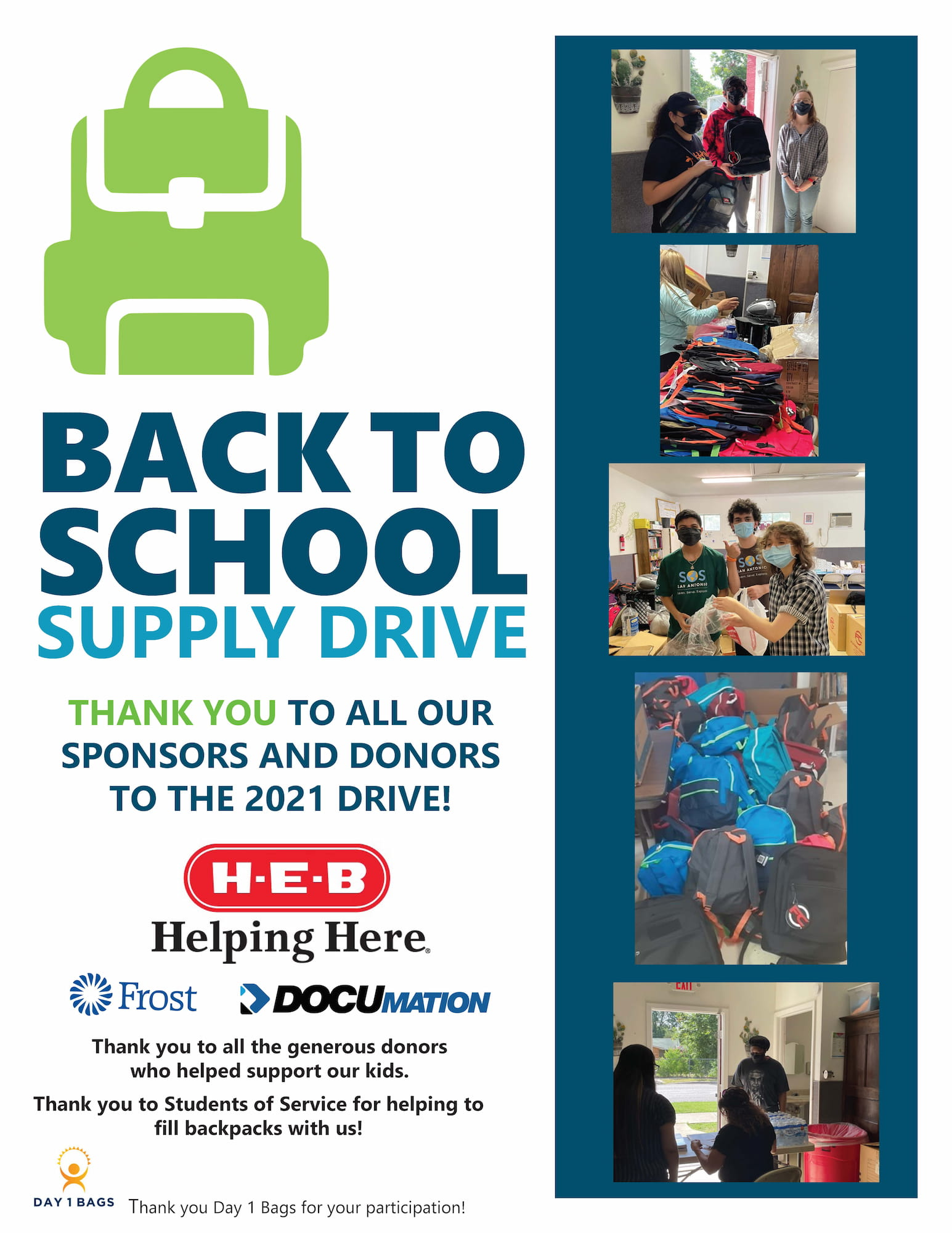 Back to School Supply Drive Now-Aug 31
